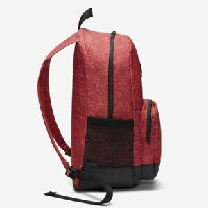 Hurley Backpack BLOCKADE Red Black School Travel with Laptop Sleeve Bag