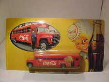 4.7 INCH Vintage School Bus Coca-Cola  1/87 H0 Plastic Mint on Card Germany