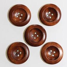 Bouton en Bois  25mm Moyenne 4 Trous - Lot de 10 - Mercerie Couture