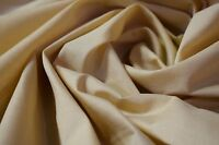 "12 Yards Linen Beige Solid Color Quilt Fabric Craft Apparel Upholstery 45""W #58"