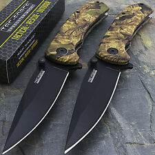 """2 x 8"""" TAC FORCE EDC FALL CAMO SPRING ASSISTED TACTICAL POCKET KNIFE Open Assist"""