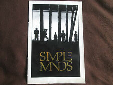 Simple Minds Programme  UNDATED but seems to cover world except UK
