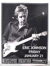 ERIC JOHNSON 2005 SAN DIEGO CONCERT TOUR POSTER - Eric Playing His Guitar