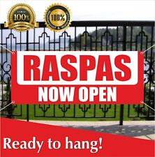 Raspas Now Open Banner Vinyl / Mesh Banner Sign Grand Opening New Store
