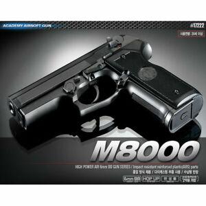 [Academy] #17222 Cougar AirsoftPistol BB M8000 Replica HandGun Toy 6mm⭐Tracking⭐