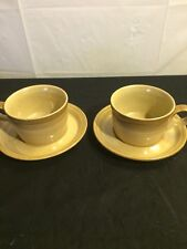 MIKASA Potters Art Ben Seibel Design PF026 Sahara 2 Mugs  Soup 2 Saucers Art