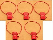 (10 Pack) 16 Gauge Atc Fuse Holder In-Line Awg Wire Copper 12 Volt With Cover