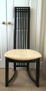 Set 4 Vintage c1990 Actona Denmark Dining Chairs Charles Rennie Mackintosh Style