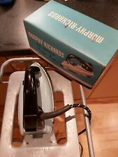 Vintage 1950s Duck Egg Blue Morphy Richards Heat Controlled Senior Iron + Box