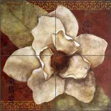 Magnolia Tile Backsplash Wilder Rich Floral Art Ceramic Mural OB-WR1322