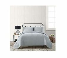 American Traditions 3 Piece Quilt King Set in Grey