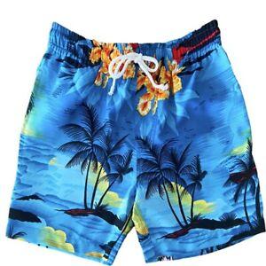 Hawaiian Shorts Boys Sunset Blue
