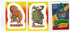 1988 TOPPS DINOSAURS ATTACK! SET 55 CARDS 11 STICKERS 3 WRAPPERS & PROMO POSTER