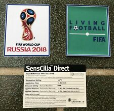 TOPPA FIFA WORLD CUP 2018 + LIVING FOOTBALL FIFA PATCH MONDIALI RUSSIA Badge