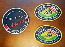 2 Gracie Jiu-jitsu Pedro Sauer Association Patches/Jiu-Jitsu Addict Patch used