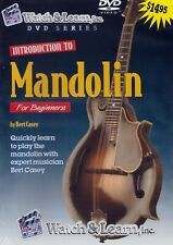 Watch & Learn- Introduction To Mandolin by Bert Casey- Method Dvd/ New!
