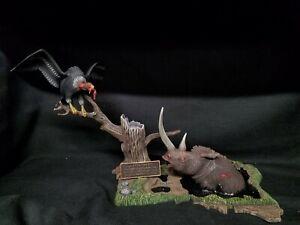 Vintage Aurora Prehistoric Senes Tar Pitt Monster Model Built Up, 1970s