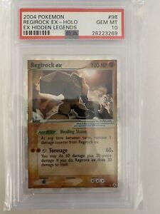 Pokemon - Hidden Legends - Regirock 98/101 EX Holo Card- PSA 10