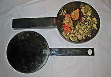 Vintage Japanese Lacquerware Hand Mirror Set