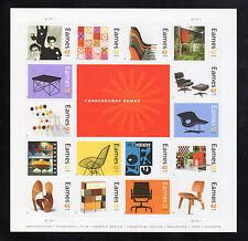 US 4333a-p @ (2008) MNH 42¢ - SHEET OF 16 - Charles & Ray Eames' Graphic Art