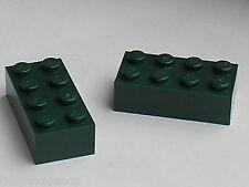 LEGO DkGreen bricks 2x4 ref 3001 / Set 10185 7626 7036 7255 10211 10133 7782 ...