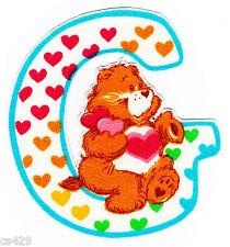 "3.5""-4"" Care bears alphabet abc letter g name monogram fabric applique iron on"