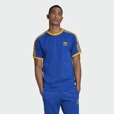 NEW Adidas Originals Three 3 Stripes Blue with Yellow T-Shirt Malmo - Size XL