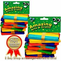 Wooden Lollipop Sticks lolly Coloured Craft Crafts Lollies Ice Pops 1000