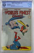 WORLD'S FINEST COMICS #33 CBCS 5.0 Superman Batman 1948 CGC