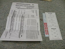 Aerocolours decals 1/200 Sheet#AC207 Braniff Airbus A320 Red Billboard   Box 10