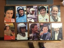 New listing Set Of 10 Cards Of 1960s Grand Prix Drivers In Original Wallet