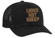 Trenz Shirt Company Lions Not Sheep Adult Trucker Hat