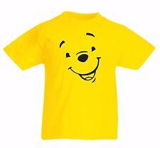 WINNIE THE POOH Kid's yellow 100% Cotton TV cartoon character T Shirt Tigger