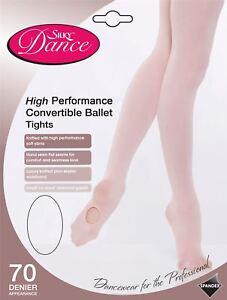Dance High Performance Convertible Ballet 70 Denier Tights - Pink