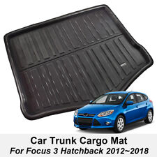 Fit For 12- Ford Focus 3 Hatch Rear Trunk Boot Mat Liner Cargo Floor Tray Carpet