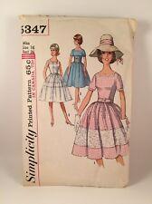 Vintage 1960's Sewing Pattern Ladies Sweet Petticoat Dress 5347 Miss Size 16 B36