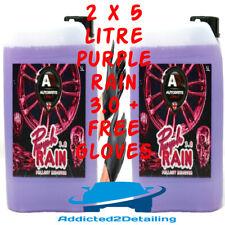 AUTOBRITE DIRECT 2 X 5 LITRE PURPLE RAIN 3.0 GEL FALLOUT REMOVER WHEEL CLEANER+