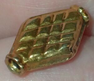 15mm Very Rare 14K Gold wax filled Antique Islamic Bead, #S2606