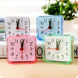 Modern Mini Quartz Clock Travel Alarm Clock Bedroom Home Table Clock New