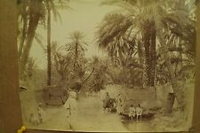 antique old PHOTO LEROUX  Arab Muslim AFRICA children people ALGERIA 1890s