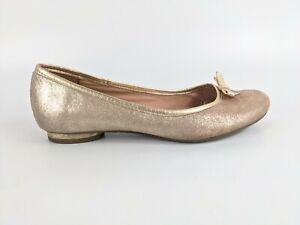 Clarks Rose Gold Leather Ballet Shoes Uk 5 Eu 38
