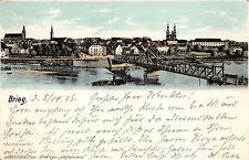 AK Brieg / Brzeg Schlesien Dampfer, Brücke Postkarte 1906