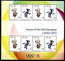 Guyana 2012 Olympiade London Olympics Maskottchen Kleinbogen Postfrisch MNH
