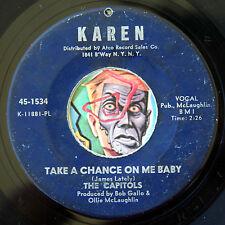 HEAR Capitols 45 Take A Chance On Me/Patty Cake KAREN 1534 northern soul R&B
