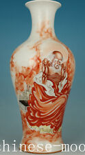 exquisite Big Chinese Porcelain Hand Painting Buddha Damo Vase