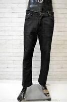 Jeans Nero Uomo Hugo Boss Taglia 36 50 Pantaloni Gamba Dritta Pant's Man Black