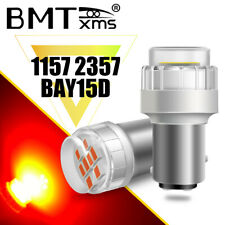 HIGH POWER 1157 2357 BAY15D LED CANBUS NO ERROR BRAKE STOP TAIL LAMP SUPER RED