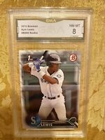 🔥KYLE LEWIS 2016 BOWMAN 1st #BD60 ROOKIE RC PROFESSIONALLY GRADED MINT 8