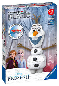11157 Ravensburger Disney Frozen 2 Olaf Shaped 3D Jigsaw Puzzle 54 Pieces Age 7+