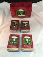 Snoopy Peanuts Gang Keepsake Christmas Ornaments Set of 5 Vintage Hallmark 2000